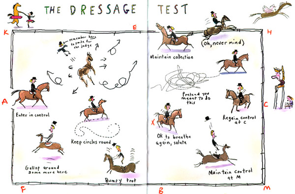 Dressage Riding Arena Cartoon