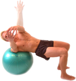 REVERSE TWIST - using an exercise ball