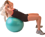 NORMAL SIT-UPS - using an exercise ball