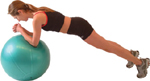 NORMAL PLANK - using an exercise ball