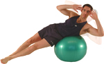 NORMAL OBLIQUE - using an exercise ball