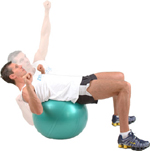 CHEST PRESS - using an exercise ball