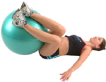 HIP ROLLS - using an exercise ball