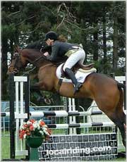Grand Prix fences will sometimes make even the best riders lose position.