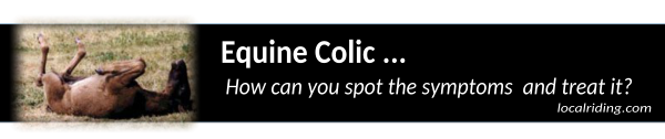 Horse Colic - spotting the symptoms & treating equine colic