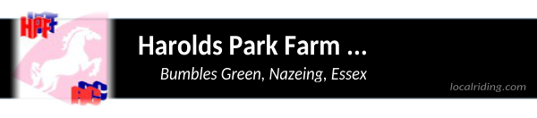 Harolds Park Farm Riding Club – 01279 414310