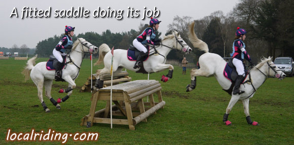 Cross Country Jumping in a well fitted saddle